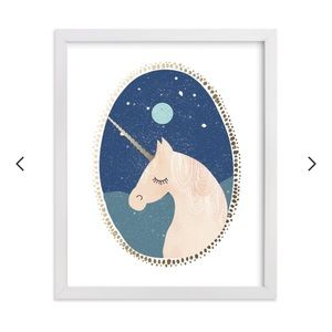 Unicorn Dreams Artwork by Minted